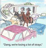 Losing strays — Stock Photo