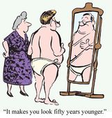 Years younger — Stock Photo