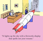 Fireworks resume — Stock Photo