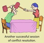 Successful resolution — Stock Photo