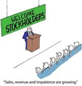 Welcome Stockholders — Stock Photo