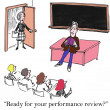 Performance review is right now for teacher — Stock fotografie