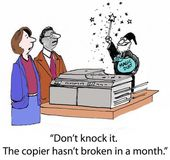 The Copier Works Like Magic from Merlin — Foto de Stock