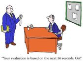 Your evaluation will be based on 30 seconds — Stock Photo