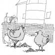Cartoon illustration. Stop pecking — Stock Photo