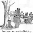 Cartoon illustration. Bear bully — Stock Photo