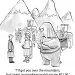 Cartoon illustration. Employer match — Stock Photo