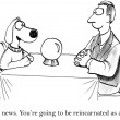 Cartoon illustration. Dog predictor — Stock Photo
