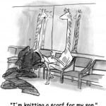Cartoon illustration. Two giraffes — Stock Photo #32548709