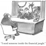 """I need someone inside the financial jungle."" — Stock Photo"
