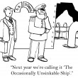 """Next year we're calling it 'The Occasionally Unsinkable Ship'."" — Stock Photo"