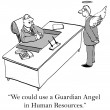 What corporation wouldn't like a guardian angel — 图库照片