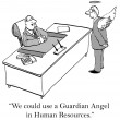 What corporation wouldn't like a guardian angel — Stok fotoğraf