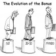 The Evolution of the Bonus — Foto Stock
