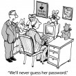 'We'll never guess her password.' — Lizenzfreies Foto