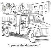 Cartoon illustration. Firefighters have cat — Stock Photo