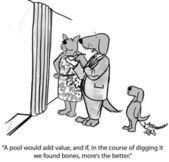 Cartoon illustration. Dogs family — Stock Photo