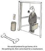 Cartoon illustration. Big bone — Stock Photo