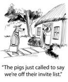 Illustrazione di cartone animato. litigare tra lupi — Foto Stock