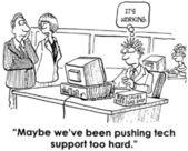 Cartoon illustration hard office work — Stock Photo