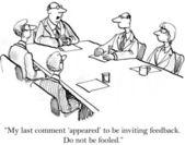 Boss makes it clear he wants no feedback — Stock Photo