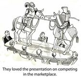 They loved the presentation on competing in the marketplace. — Stock Photo