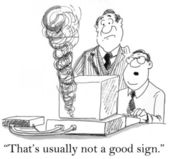 """""""That's usually not a good sign."""" — Stock Photo"""