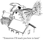 """Tomorrow I will teach you how to land."" — Stock Photo"