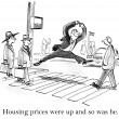 Housing prices were up and so was he. — Stockfoto