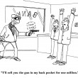 Stock Photo: Cartoon illustration. Bank robbery