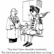 Cartoon illustration. Pirate at the doctor — Stock Photo