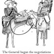 Постер, плакат: Negotiations between the general and the Indians