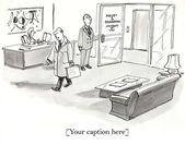 Associate holds door for boss coming to work — Stock Photo