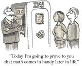 Cartoon illustration professor will present a time machine — Stock Photo