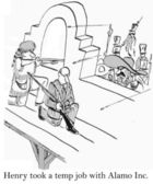 Cartoon illustration skirmish between the troops — Stock Photo