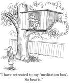 Cartoon illustration. Kids build a tree house — Stock Photo