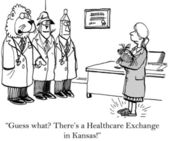 Healthcare exchange — Stock Photo