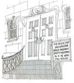 Front door of the big house — Stock Photo