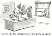 Increase in insurance rates — Stock Photo