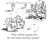 Man and woman are waiting to test their home security system — Stock Photo