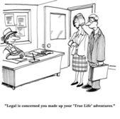 Prawnicy są zaniepokojeni życia pinokio — Zdjęcie stockowe