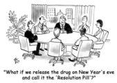 Cartoon illustration negotiations in the office — Stock Photo