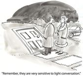 Sensitive to light conversation — 图库照片