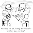 Stock Photo: Cartoon illustration. Football players