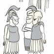 Cartoon illustration. Roman soldiers — Lizenzfreies Foto