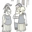 Cartoon illustration. Roman soldiers — Stock Photo