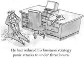 генеральный директор имеет паники о бизнес-стратегии — Стоковое фото