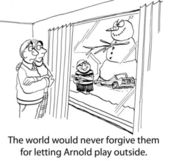 Arnold's parents should never have let him play outside without supervision. — Stock Photo