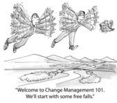 Fågeln kommer att starta några free falls — Stockfoto