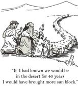 Moses leads the Jews in the desert — Stock Photo